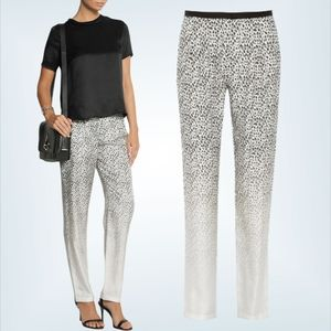 Band of Outsiders Silk Degrade Leopard Print Pants